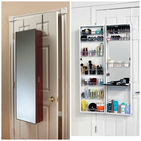 The Door Cosmetic Organizer by Door Armoire Length Mirror Make Up