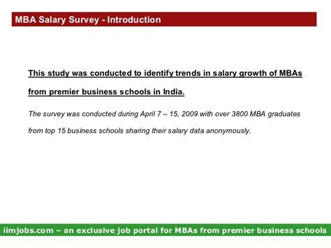 Pharma Mba Salary In India by Mba Salary Survey
