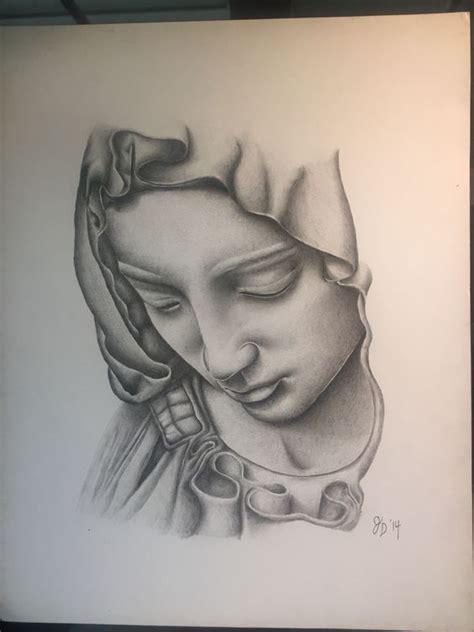 imagenes virgen llorando virgin mary done in acrylic pencil my art pinterest