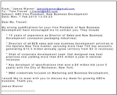 Email Cover Letter Include Address Writing An Email Cover Letter Http Hireimaging