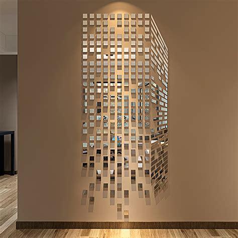 Acrylic Mirror diy mosaic squares 3d acrylic mirror wall sticker