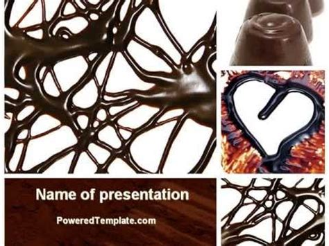 Chocolate Powerpoint Template By Poweredtemplate Com Youtube Chocolate Powerpoint Template