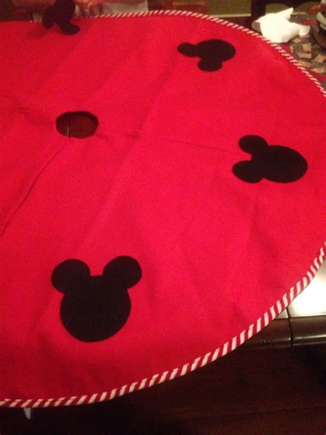 my moms homemade disney mickey mouse tree skirt cheap