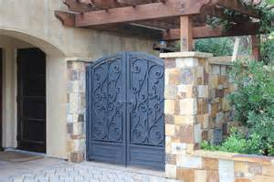 ornamental home design inc mediterranean style ornamental iron enclosure gates mediterranean entry other by diablo