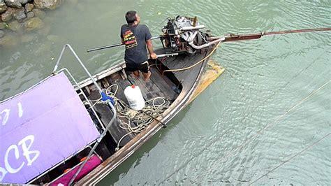 long tail boat motor long tail boats aonang thailand youtube