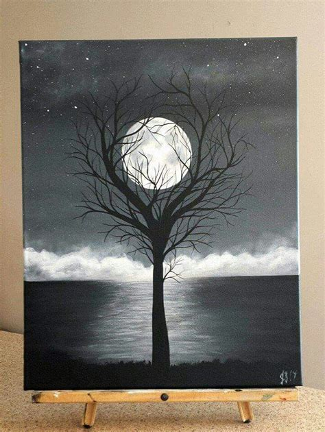 black and white painting ideas painting by j baldwin quot unity quot acrylic black and white tree