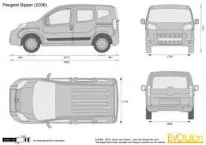 Peugeot Bipper Dimensions Gabarit Habillage V 233 Hicule Peugeot Bipper Tepee