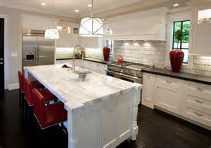 Marble Kitchen Countertops Calcutta Marble Countertops Contemporary Kitchen Spinnaker Development
