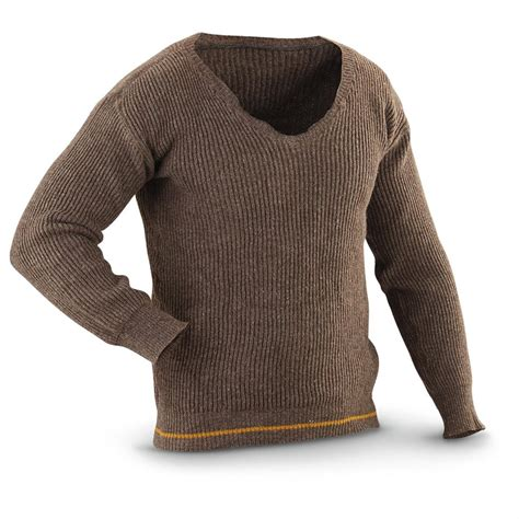 Sweater Wool 4 Used Swedish Surplus Wool Sweaters 223016