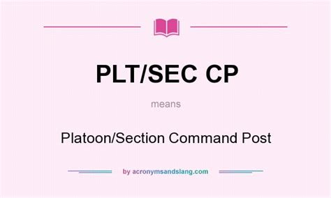 section 8 what does it mean what does plt sec cp mean definition of plt sec cp