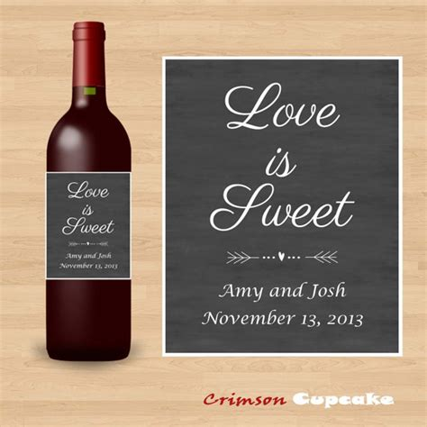 printable labels wine bottles printable custom wedding wine bottle label by crimsoncupcake