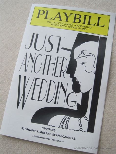 30 Best Images About Wedding Playbills On Pinterest Theater Invitations And Wedding Program Playbill Program