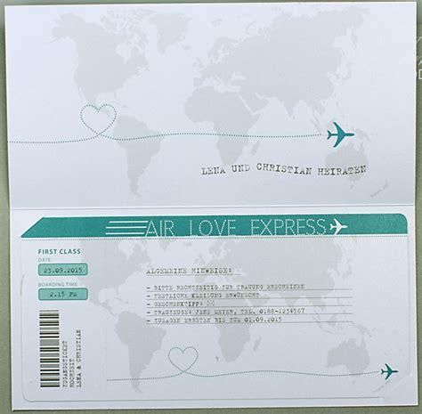 Hochzeitseinladung Weltkarte by Hochzeitskarte Flugticket Weltkarte Airline Ba723018