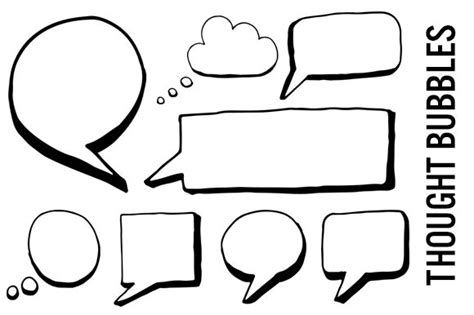 thought template speech and thought bubbles clipart graphics on creative