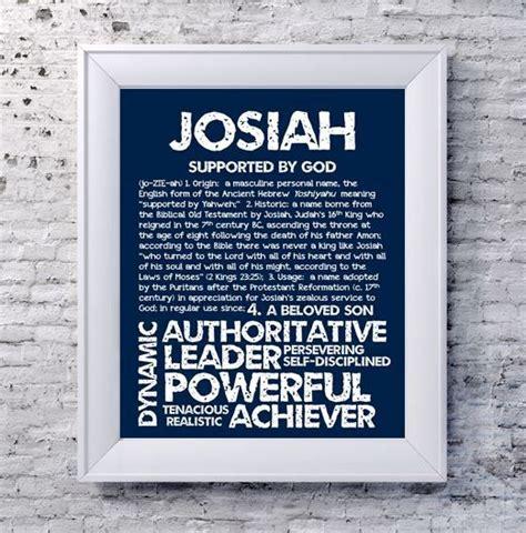 name definition josiah personalized name print typography print