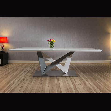 large rectangular modern dining dining table white glass