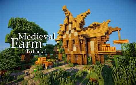 How To Make A Small Barn In Minecraft Minecraft Medieval Farmhouse Tutorial Youtube