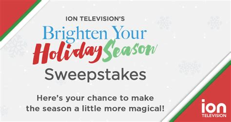 Holiday Sweepstakes 2016 - ion television holiday sweepstakes 2016 iontelevision com holidaysweeps