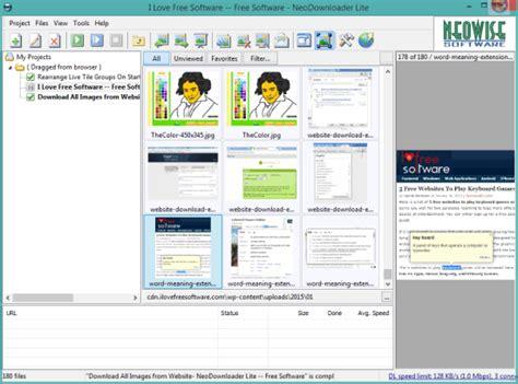 free bulk image downloader neodownloader lite 5 free software to download images from a webpage