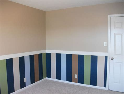 Bedroom Wall Colors Ideas striped chair rail