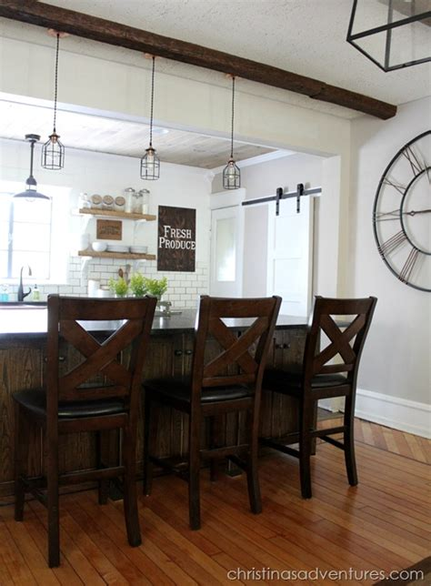 Solid Wood Dining Room Table industrial farmhouse kitchen style trend