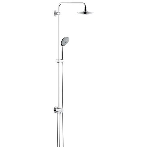 grohe euphoria grohe euphoria wall mounted shower system with diverter shower arm 450 mm 27421001 reuter