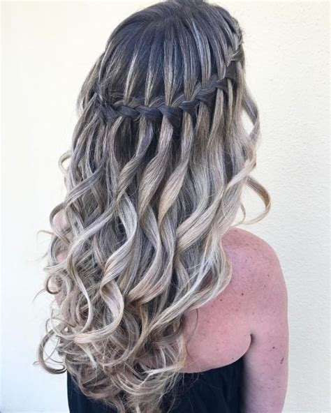Waterfall Braid Hairstyles by 40 Flowing Waterfall Braid Styles Waterfall Braid