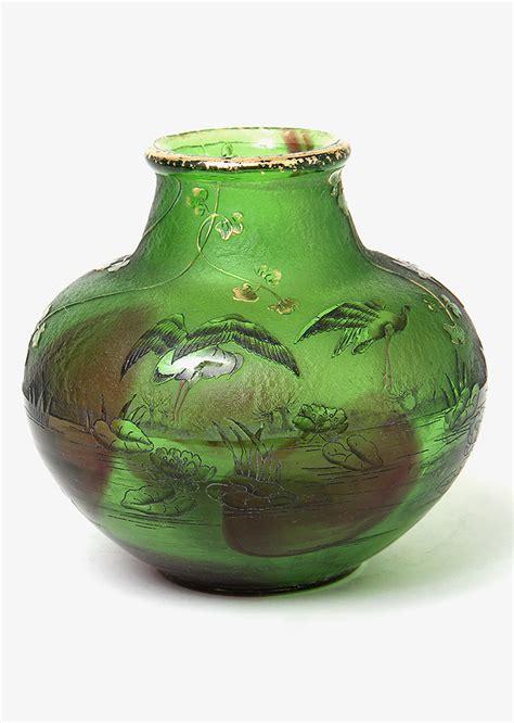 Daum Crane Vase chasenantiques glass daum nancy crane vase