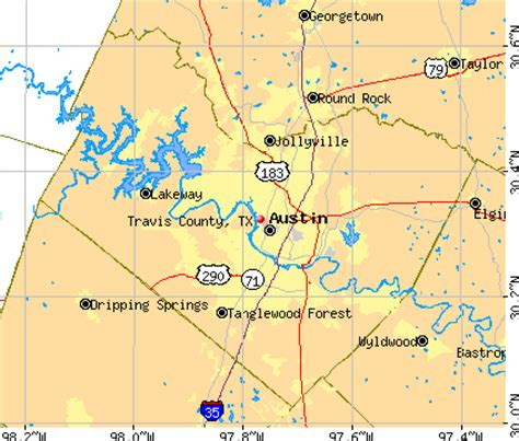 travis county texas map travis county map my