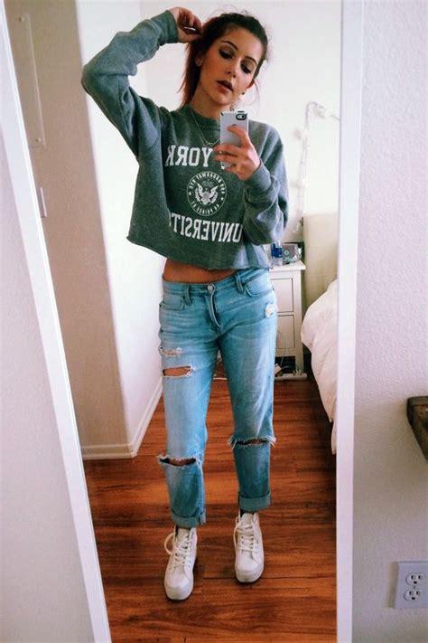 8 Garments To Borrow From Your Boyfriend by Best 25 Ripped Boyfriend Ideas On