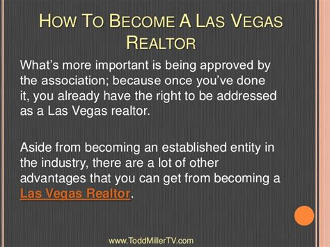 being a realtor how to become a las vegas realtor