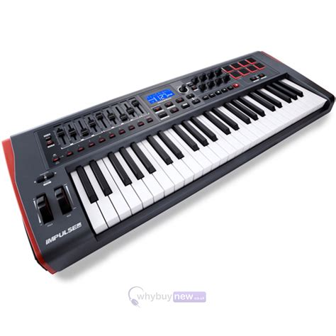 Keyboard Midi novation impulse 49 usb midi controller keyboard whybuynew