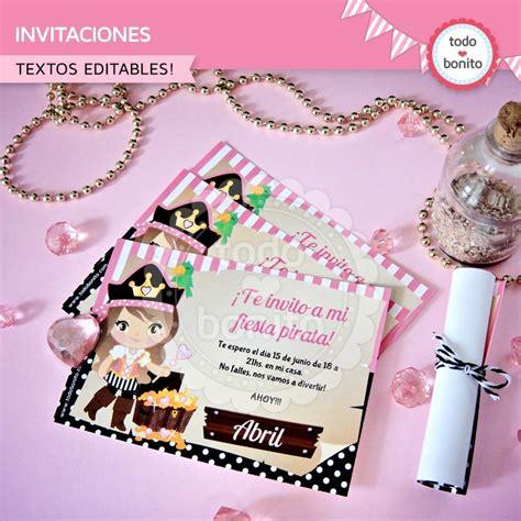 fiestas tem ticas fiesta pirata las invitaciones y la princesa pirata invitaci 243 n para imprimir todo bonito