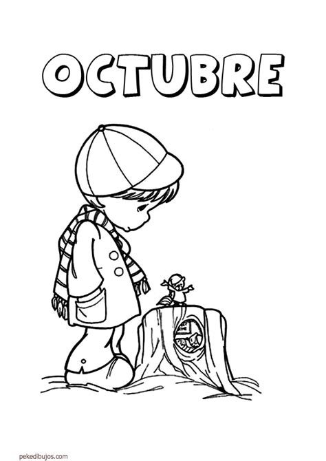 imagenes para colorear octubre dibujos de los meses para colorear