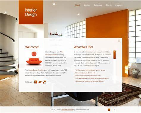 free interior design website free javascript animated template interior design