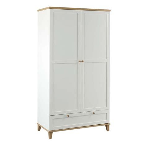 White Wardrobe Boston Lyon Wardrobe White Ash 2 Door
