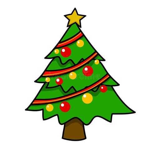 cartoon christmas tree december tree stock illustration illustration of card 26909974