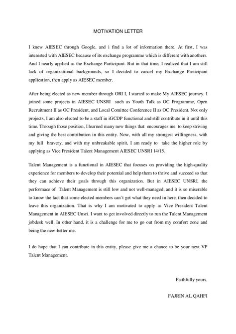 Employment Exchange Letter Format motivation letter for a sle tomyumtumweb