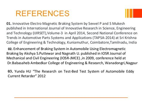 Magnetic Braking System Project Ppt Ppt On Project Electomagnetic Braking System