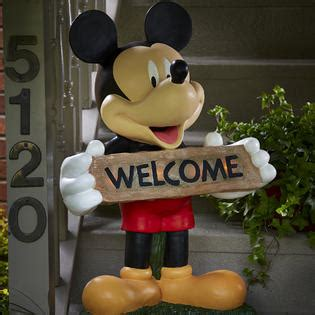 disney mickey large solar door greeter limited availability outdoor living outdoor decor