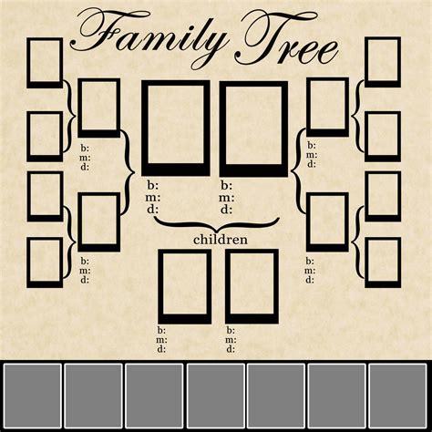 Family Tree Template Family Tree Template Psd Family Tree Photo Book Template