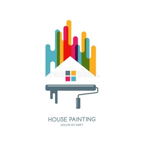 Logo Decoration Design by Vector Logo Label Or Emblem Design House Painting