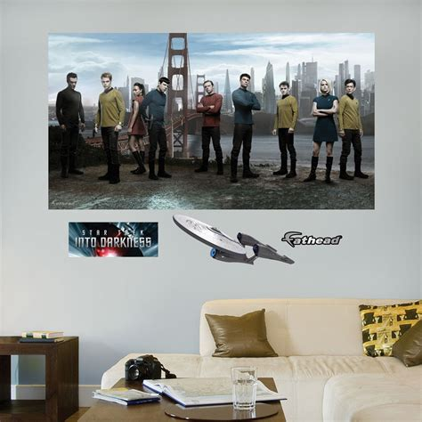 trek wall mural trek into darkness mural realbig wall decal