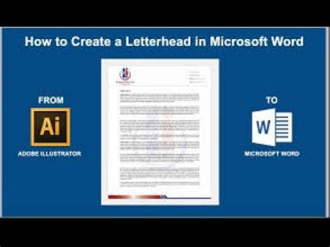 how to create a letterhead in microsoft word 2016 2013