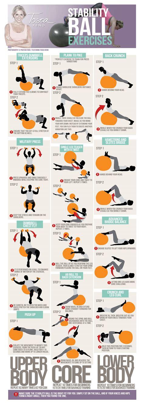 stability ball exercises  enhance  body shape tr