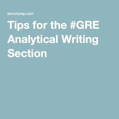 gre research section in order to receive a high score on the gre analytical
