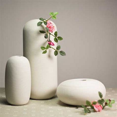 Table Flower Vase by 3 Pcs White Ceramic Flower Vase Luxurious Home Wedding