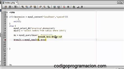 tutorial php connect mysql conexi 243 n a bases de datos con php y mysql parte 2 conexi 243 n
