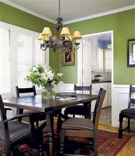 Dining Room Green Paint Quite A Pair Bright And Cheery Rooms Inspired By Fall