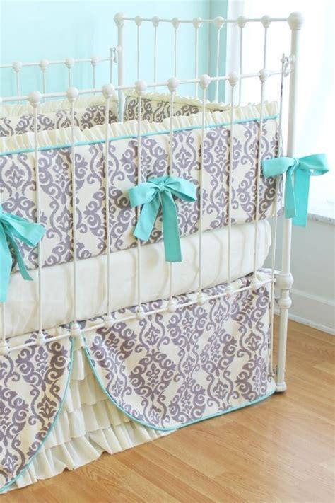 elegant baby bedding modern crib bedding elegant ikat ruffles crib set